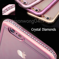Rhinestones Diamonds Crystals Clear Protective Case Cover for iPhone 6 6s Plus