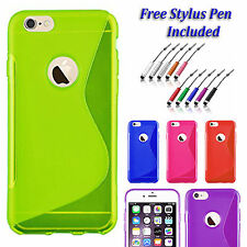 S-Line Back Case Soft Gel  Silicone Slim Grip Cover For  Apple iPhone 5 5S UK