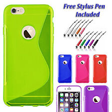 S-Line Back Case Soft Gel  Silicone Slim Grip Cover For  Apple iPhone 5C UK