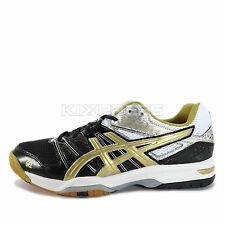 Asics GEL-Rocket 7 [B405Q-9094] Volleyball Badminton Black/Gold-White