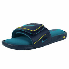 NIKE COMFORT SLIDE 2 SANDALS MIDNIGHT NAVY TROPICAL TEAL SONIC YELLOW 415205 405