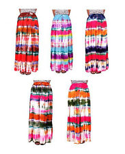 Apparels India 5Pcs-100pcs Tie Dye Print USA Boho Gypsy Long Skirt Wholesale Lot