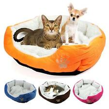 Cute Pet Dog Nest Puppy Cat Soft Bed Fleece Warm House Kennel Plush Mat New P1O0