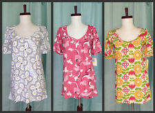 NWT Lot of 3 Women cute flowers & butterfly print top tee S M  great deal!!