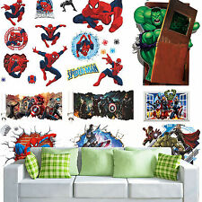 Spiderman Wallpaper Decals Crash into House Kids Wall Art Stickers Home Decor