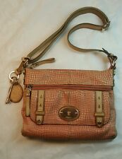 FOSSIL MADDOX CORAL LEATHER SHOULDER BAG CROSSBODY MESSENGER PURSE