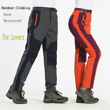 Men Women Lovers Warm Waterproof Outdoor Climbing Camping Hiking Trousers Pants