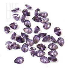 Amethyst Color Cubic Zirconia AAA Quality Calibrated Size Pears Shape gemstones