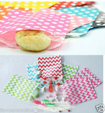 25/50 Polka Dot Paper Favour Bags Treats Lolly Wedding Party Kids Candy Buffet