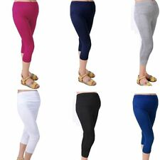 Comfortable Leggings Maternity Cotton Capris Solid 7 Pant Pregnant Women Elastic