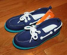 NWT Gymboree Boys Blue Contrast Boat Shoes Size 1 & 2