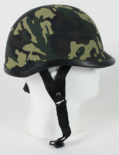 Camouflage Polo NOVELTY Hunter Biker Army Shorty Motorcycle Helmet S M L XL +