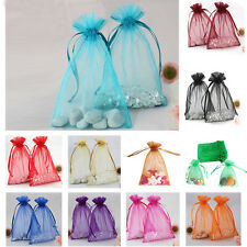 50pcs Mini Organza Candy Gift Bag Wedding Favour Party Jewellery Pouches Packing