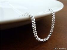 925 Sterling Silver Plated Snake Chain or Box Chain 45cm 50cm 55cm 60cm x 2mm