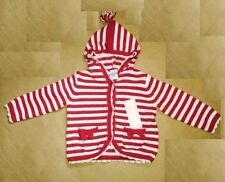 NWT Gymboree Girls Holiday Shop Red Striped Hood Cardigan Sweater 3-6-12-18 M