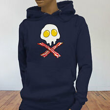 Dead Breakfast Eggs Bacon  York Scramble Eat Womens Navy Hoodie