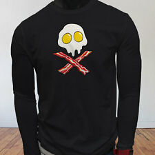 Dead Breakfast Eggs Bacon  York Scramble Eat Mens Black Long Sleeve T-Shirt