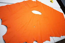 Orange Cowhide Upholstery leather piece 140 x 70cm Grainy Cow Hide Leather