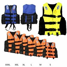 Polyester Adult Swimming Life Jacket Vest  Boating Foam Floating Vest + Whistle