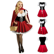 Christmas Womens Fairytale Little Red Riding Hood Costume Fancy Dress Storybook