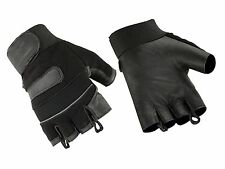 Hugger Mens Micro Mesh Motorcycle Gloves Fingerless Smooth Palm Glove