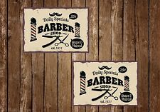 BARBERS SHOP,HAIR,RETRO ,A5 SIZE,VINTAGE STYLE, ENAMEL METAL SIGN,339