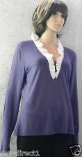 Kaleidoscope jersey top long sleeves V- neck NWT