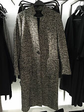 ZARA WOOL MAXI COAT BLACK/WHITE XS-XL REF. 7910/801