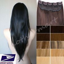 US SALE Real Good One Piece Clip In Remy Human Hair Extensions 3/4Full Head B821