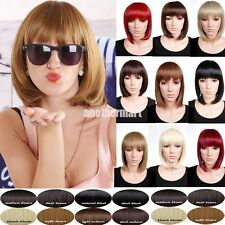 Gorgeous Ladies Real Synthetic Wig BOB Short Hair Full Wigs Black Brown Blonde E