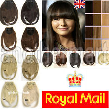 UK Shipping Clip In Bangs fringe hair extensions real natural many color length