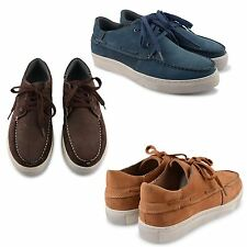 NEW MENS FLAT NUBUCK LEATHER COMFORTABLE DECK LOAFERS BOAT SHOES MOCASSIN SIZES
