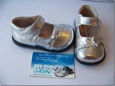 Girls Metalic Silver Leather Shoes for Toddlers Kids Children for age 1 - 6years