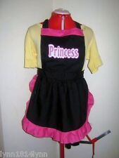 Kids/Adult PRINCESS PARTY APRONS Made to order Colors of Choose