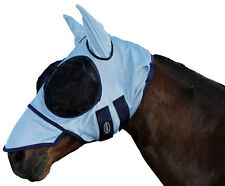 CARIBU Horse Fly & Insect Bonnet Mask, Soft Mesh, Nose Flap, Ears. 3 Sizes Avail
