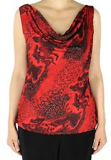 Women's Slinky Print Scoop Cowl Neck Tank Top For Travel And Casual Wear