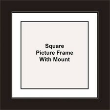 NEW Square Picture Frame - White Mount Made in UK Best and Unique Photo Frames