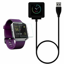 USB Charging Cable Cradle Dock Charger Cord For Fitbit Blaze Smart Watch