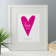 I Love You Personalised Framed Print - Valentine's Day print for the home