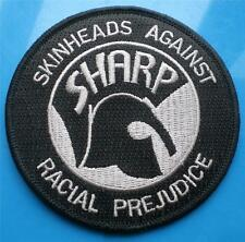 SKINHEAD SKA REGGAE PATCH - SHARP - BLACK / SILVER