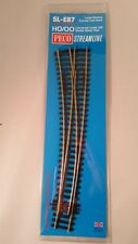 PECO HO Scale #SL-E87 Large LH Double-Curved Turnout Code 100 w/ElectroFrog New