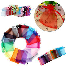 50Pcs Organza Wedding Xmas Gift Party Favor Candy Bags Jewellery Pouches Decor