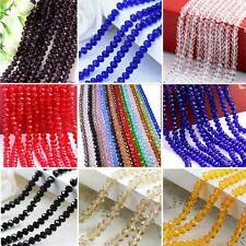 4mm/6mm/8mm Faceted Rondelle Crystal Glass DIY Craft Finding Loose Spacer Beads