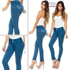 Fajate Virtual Sensuality Push Up Jeans Levanta Cola Butt Lifter Blue Amazing 16