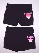 Nwot New Justice Dance Gymnastics Gymnast Fold Over Waistband Shorts Cute Girl
