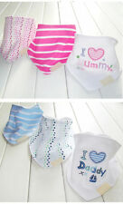 Colorful 3Pcs Baby Kids Triangle Head Scarf Bandana Bibs Saliva Towel Dribble