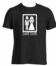 Game over mens funny novelty t shirt stag night wear funny wedding gift