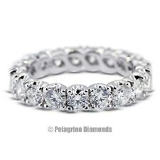 1.95ctw G-SI3 VG Cut Round Natural Diamonds 14k Gold Classic Eternity Ring 3.8mm