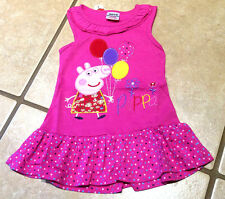 NWT Girls Peppa Pig Boutique of Balloons Birthday Party Dress Sizes 18/24M - 5/6