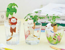 Self watering Plant holder Cat Dog Monkey with seeds X1